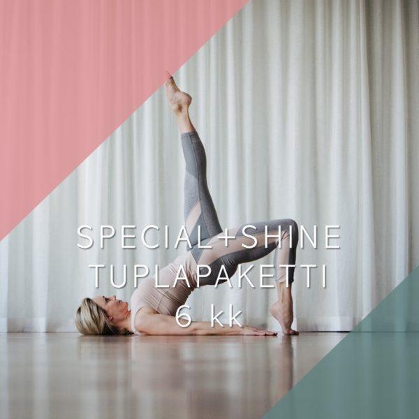 Special ja Shine -yhdistelmäpaketti 6 kk